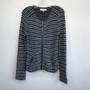LOFT Metallic Sweater Jacket